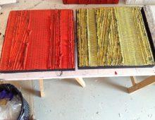 Série Invisible, peinture, liants sur carton marouflé sur toile 20 cm x 20 cm
